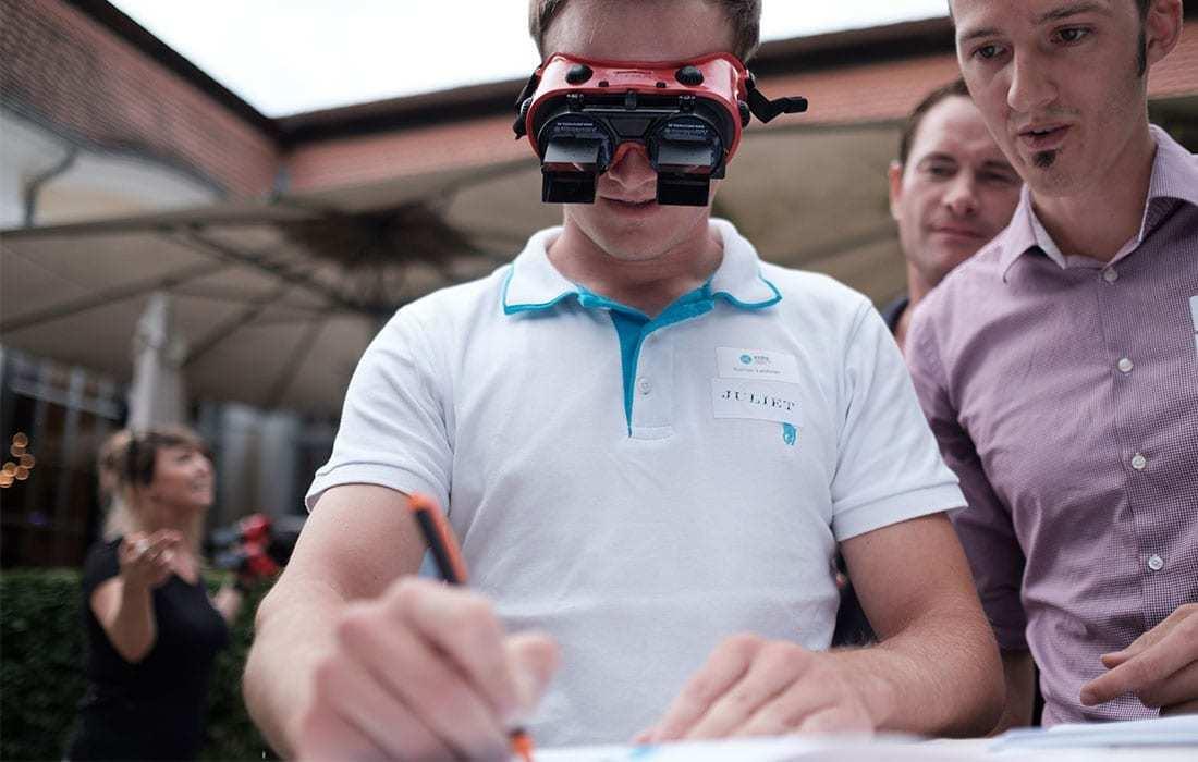 teamazing - brille mit teamevent