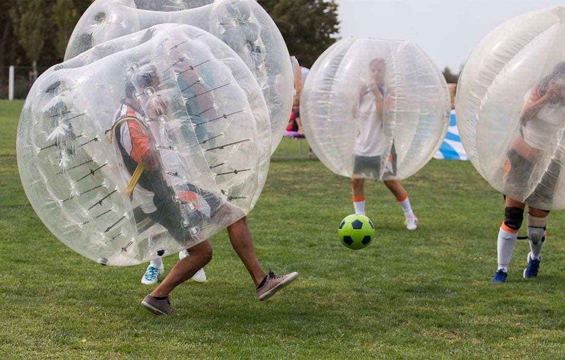 teambuilding - bubblesoccer landhotel hallnberg