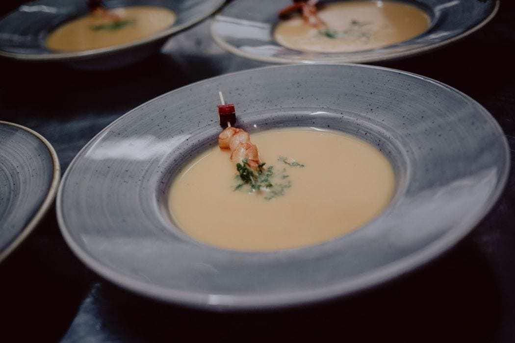 hochzeit Suppe mit Garnele