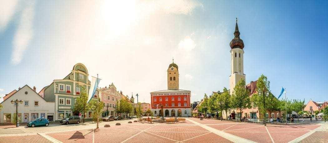 erding schrannenplatz sightseeing in oberbayern