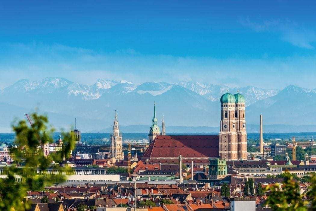 münchen frauenkirche blick über die stadt