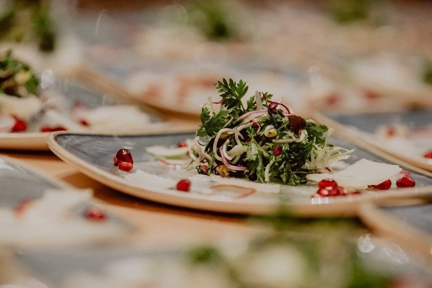 kohlrabi granatapfel salatbouquet vorspeise hochzeitsmenü